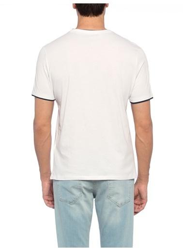 LC Waikiki Bisiklet Yaka Baskılı Tişört Beyaz